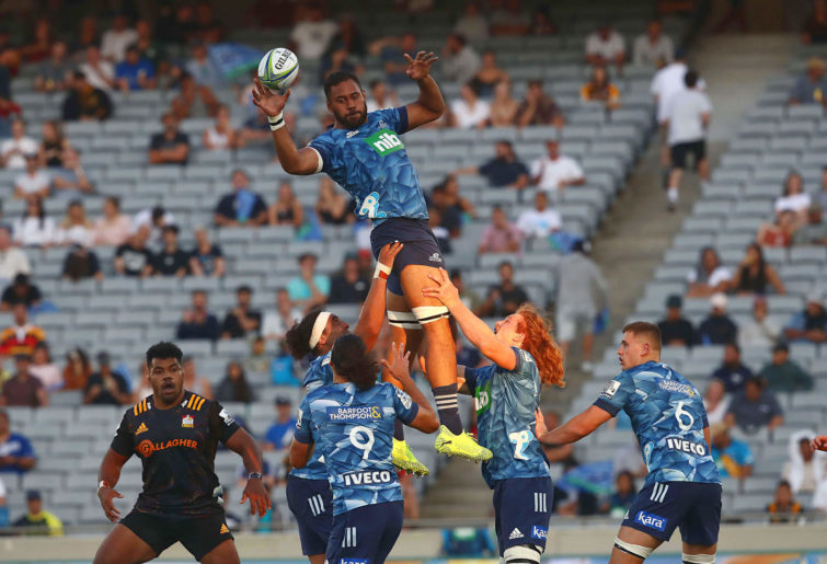 Patrick Tuipulotu takes a lineout
