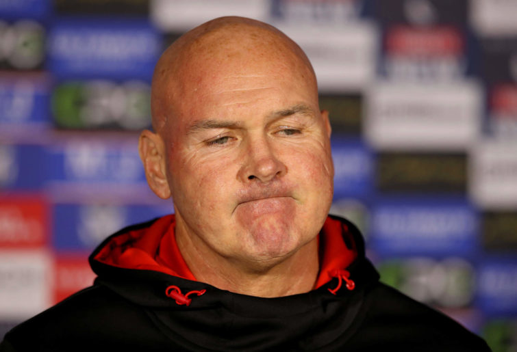 Paul McGregor at a press conference