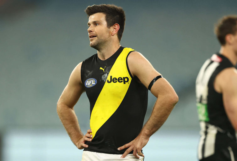 Trent Cotchin reacts