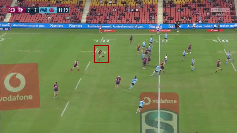 queensland reds kicking position vs nsw