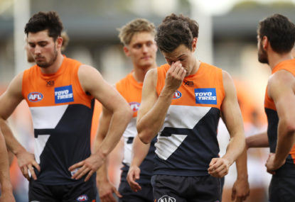 The Giants aren't wobbling, they're in serious strife - and they need to get it right quickly