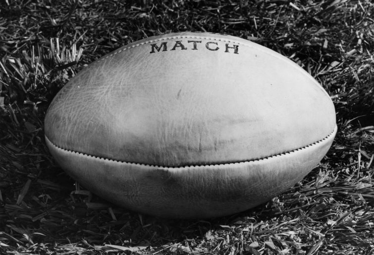 Generic vintage rugby league or rugby union ball