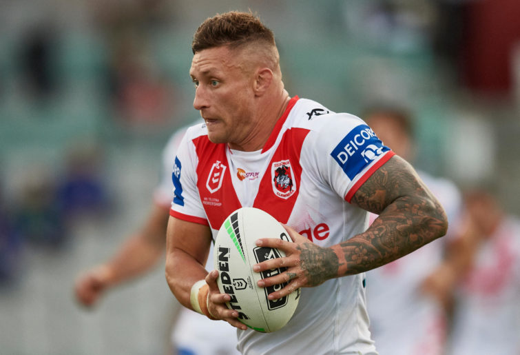Tariq Sims of the Dragons runs the ball