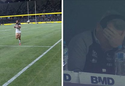 Justin O'Neill drops a certain try to leave Paul Green wondering why he bothers