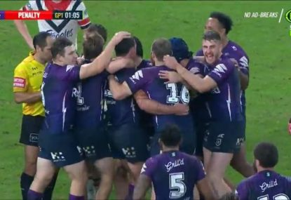 WATCH: All the drama from an insane Storm vs Roosters instant classic