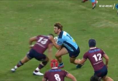 Tahs winger gets folded by monster hit