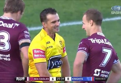 'Bring back the cut-outs': DCE shares a laugh with the ref over crowd abuse