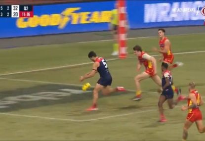 Christian Petracca submits contender for the worst miss in AFL history