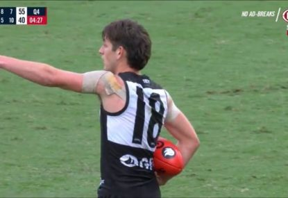 Ump has absolutely no time for Port youngster's cheeky time-wasting tactic