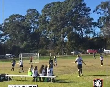 Under 11s player lobs keeper from halfway!