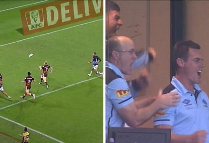 The brilliant, totally bonkers play that secured the Sharks an epic comeback win