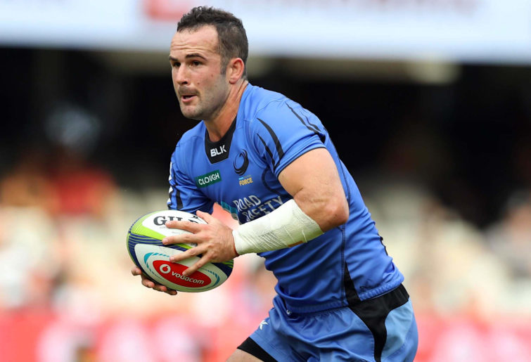 Jono Lance playing for the Western Force