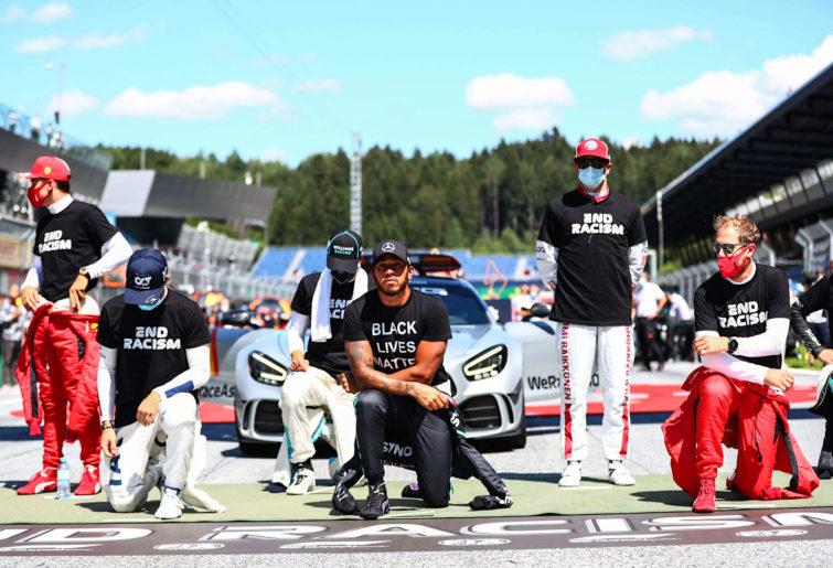 Formula 1 drivers kneel in support of Black Lives Matters