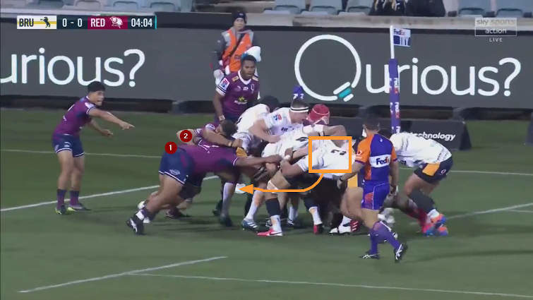 brumbies rolling maul vs reds
