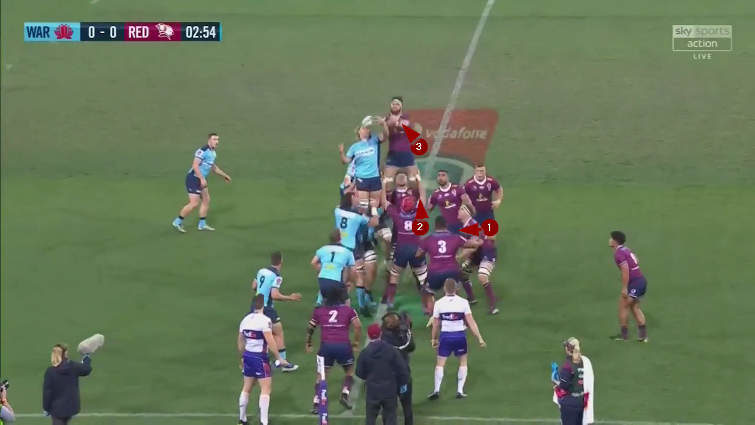 waratahs vs reds lineout