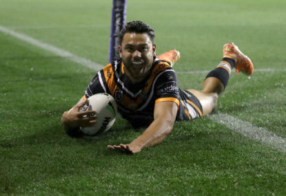 Wests Tigers vs Sydney Roosters: NRL live scores
