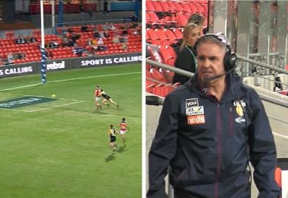 Lion's unbelievable miss sends Chris Fagan over the edge
