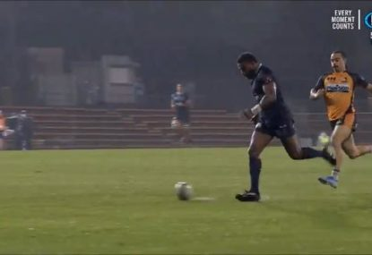 Marika Koroibete channels inner Messi to set up bonkers wet-weather Rebels try