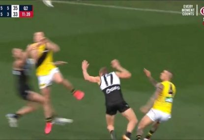 Dusty gives opponent 'one of the best shoves you've seen'- and TIGERS win the free