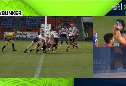 Double movement? Bunker call on Knights try causes controversy
