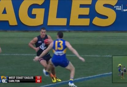 Is Luke Shuey in strife for an alleged trip?