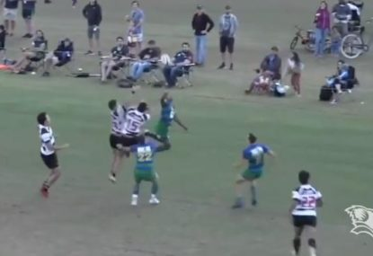 Will Genia's acrobatic try in Queensland club rugby
