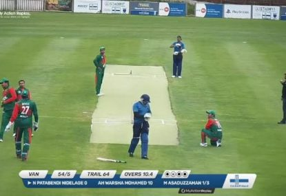 MUST WATCH: Finnish cricket produces the worst missed run out of all-time!