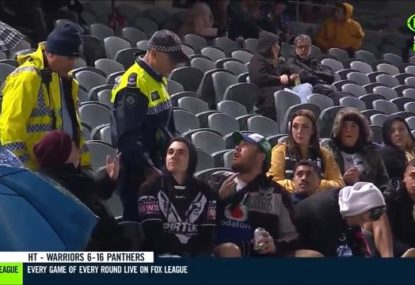 Group of idiots ejected for allegedly racially abusing Brent Naden
