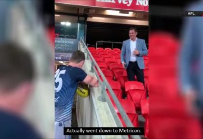 Dangerfield roasts Luke Hodge for rocking up to the wrong ground for Cats v Port
