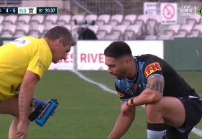 Shaun Johnson stuns by nailing conversion seconds after nearly bringing up his lunch