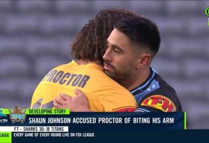 'We're still mates': Shaun Johnson defends Kevin Proctor despite alleged bite