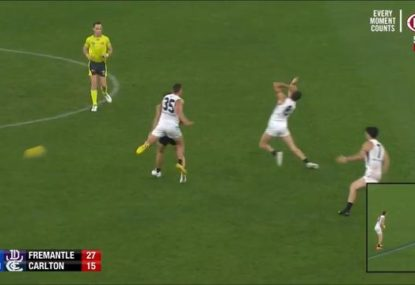 Kade Simpson cops the undisputed falcon to end all falcons