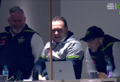 Even Ricky Stuart has a giggle at the Broncos' insipid second half