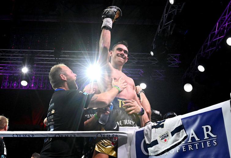 Tim Tszyu celebrates victory