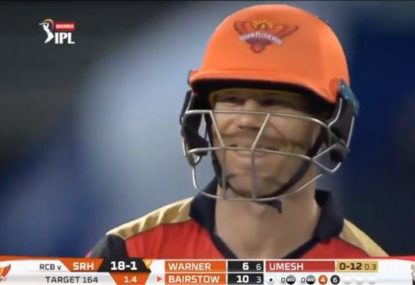 David Warner runs out of luck in the IPL