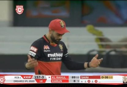 Virat Kohli drops two sodas in two overs