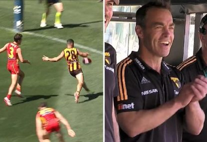 Puopolo slots outrageous goal in farewell game... and doesn't Clarko love it