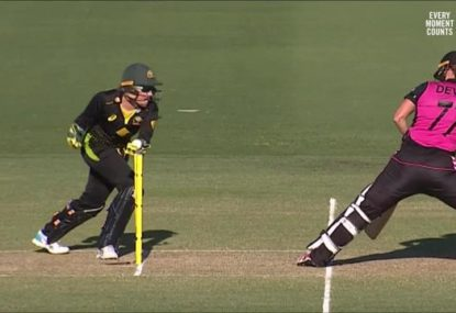 Brilliant stumping, or not out? Controversial third umpire call stuns commentators
