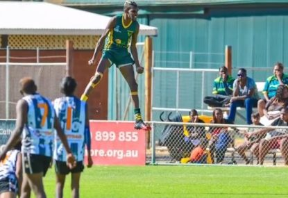 Defying gravity: Talented teenager goes viral with incredible athleticism in footy grand final
