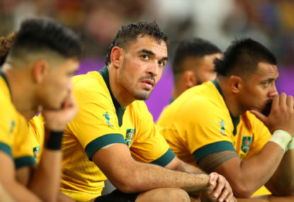rory arnold looks on wallabies