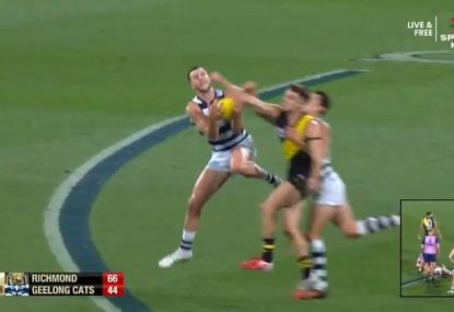 Sickening scenes as Sam Simpson gets knocked out by his own teammate