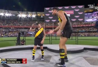 Toby Nankervis left hanging by AusKicker