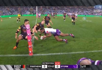 Huge call to start NRL grand final with Storm awarded a penalty try