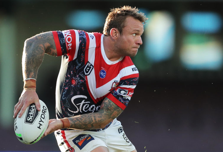 Jake Friend of the Roosters passes