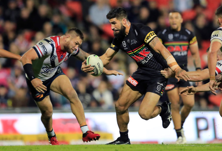 James Tamou of the Panthers runs with the ball