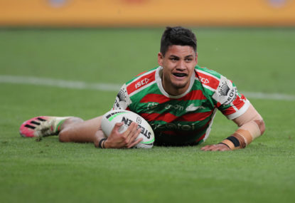 Rabbitohs' second-half riot leads to straight-sets exit for Eels