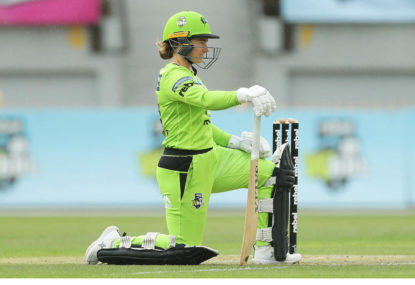 Tammy Beaumont ready to open the batting for the Sydney Thunder