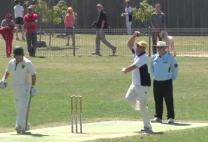Warney sets up one-handed SCREAMER in club cricket