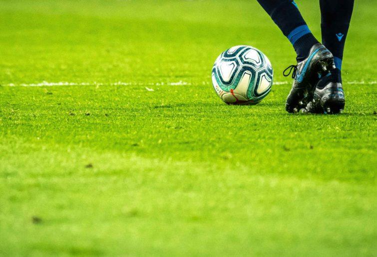 Feet on a football