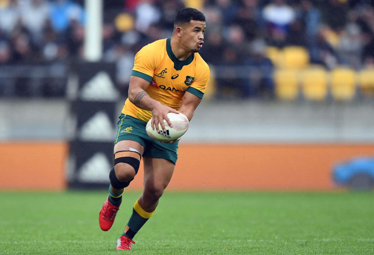 Hunter Paisami of the Wallabies